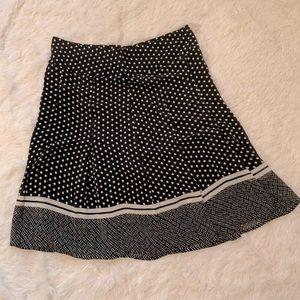 Jones Wear Skirt - Navy with White Polka Dots